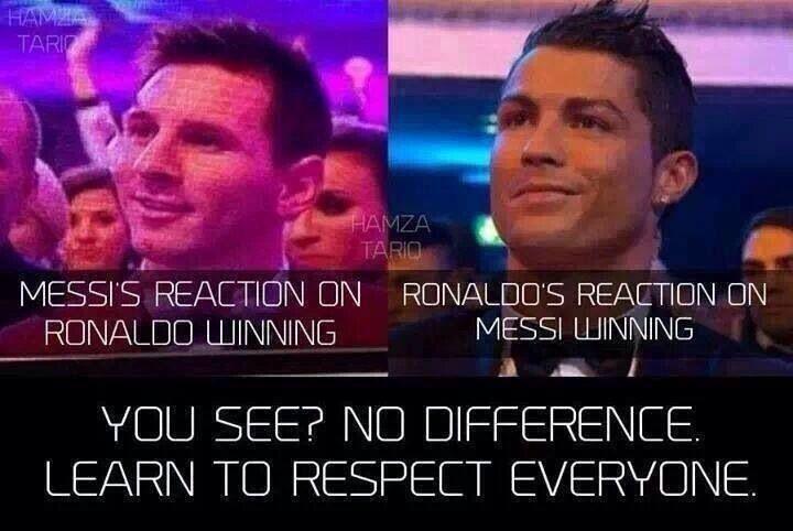 Ronaldo and Messi ....classy