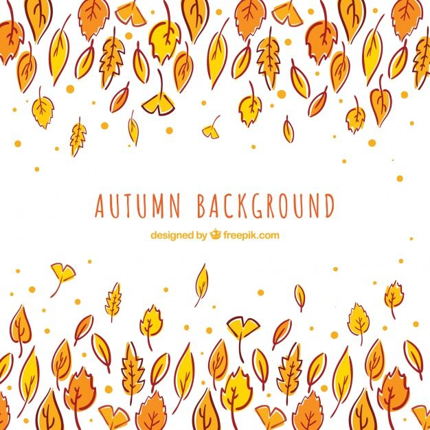 Free vector Autumn background with hand drawn leaves #22577