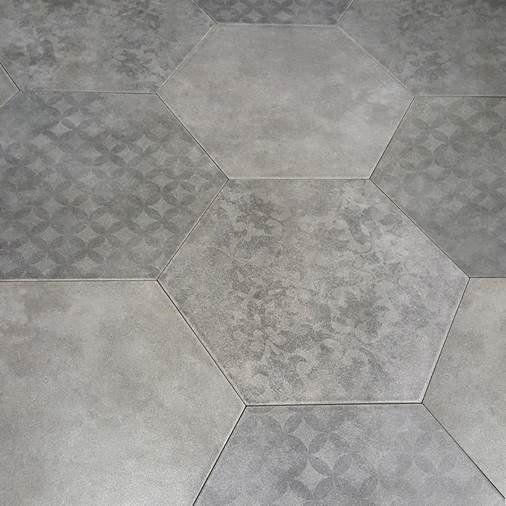 Klinker Hill Ceramic Artes Hexagon Grå 35x40 - Klinkergolv - Klinker