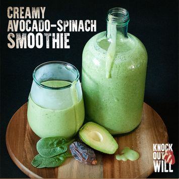 Creamy Avocado-Spinach Smoothie