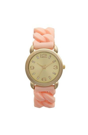 Free shipping and returns on Global Time Braided Silicone Strap Watch, 34mm (Juniors) at Nordstrom.com. A round, golden watch sports tiny, sparkling indexes and a trendy pastel-hued silicone strap.