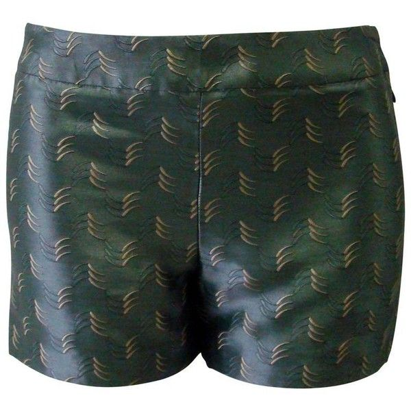 Preowned Istante By Gianni Versace Silk Shorts Spring 1998 ($267) ❤ liked on Polyvore featuring shorts, black, versace, versace shorts and silk shorts