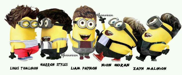 Minions as One Direction :) #OneDirection #Minions