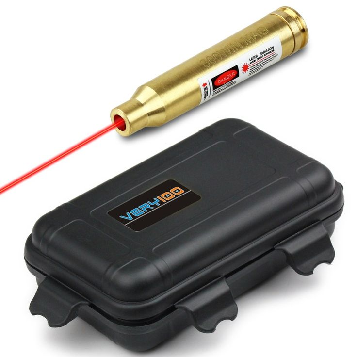 Red Laser Pointer Bore Sighter 300 Win MAG Cartridge Sight Boresighter + Waterproof Case