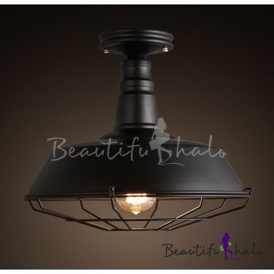 The 25 best iron wire ideas on pinterest wire drawing wrought iron wire cage black small led semi flush mount ceiling light greentooth Gallery