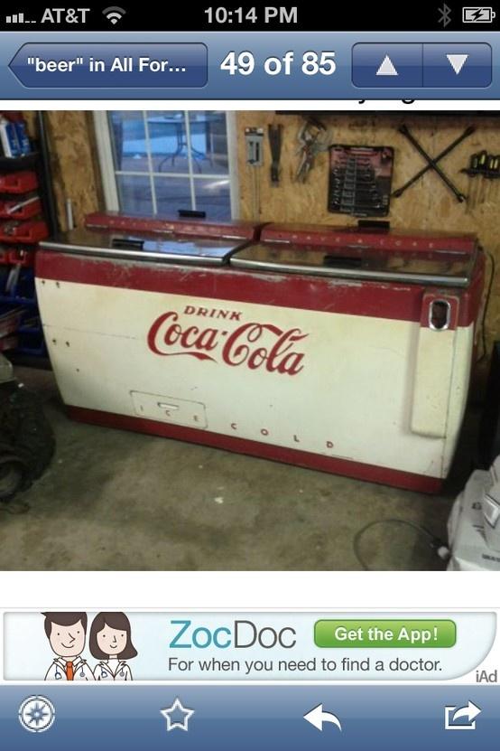Old coke cooler