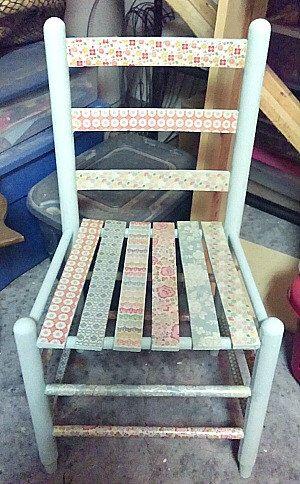 Decorative Decoupaged Aqua Chair by PaperHart28 on Etsy https://www.etsy.com/listing/228084817/decorative-decoupaged-aqua-chair