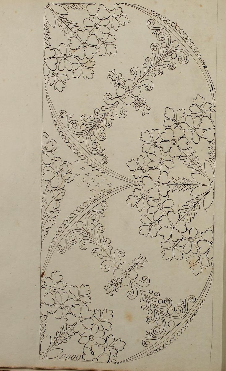 Embroidery Patterns - Directoire designs for textiles