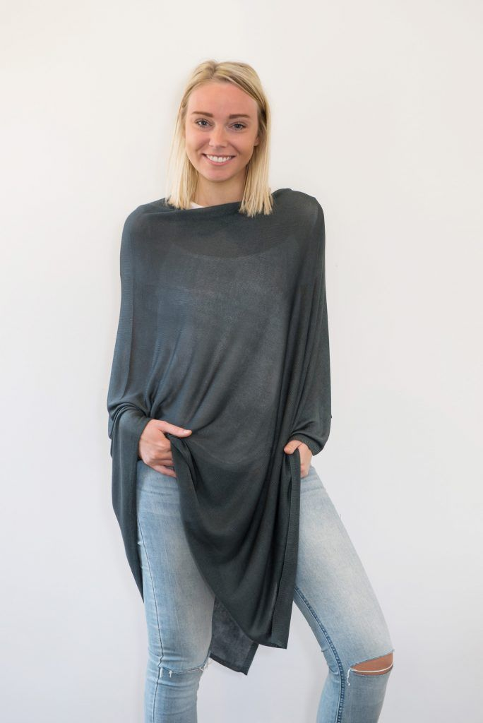 CharliBird Bamboo Poncho in storm $99.95