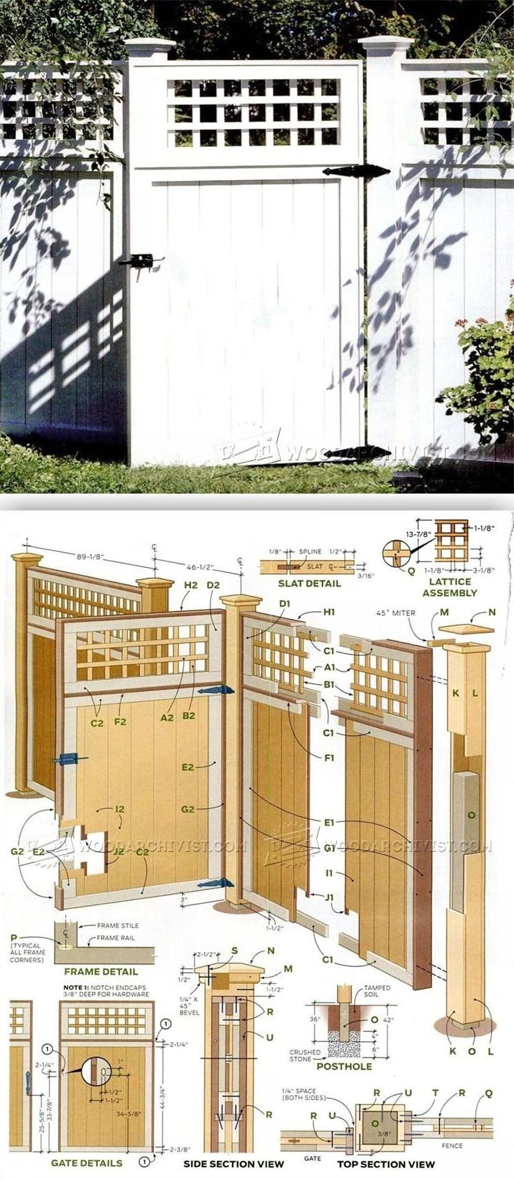 Building Lattice Top Fence - Outdoor Plans and Projects | WoodArchivist.com
