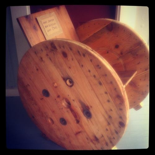 Are u kidding me? Old electric spools transformed into a chair! GTC exclusive! Texas made!!!
