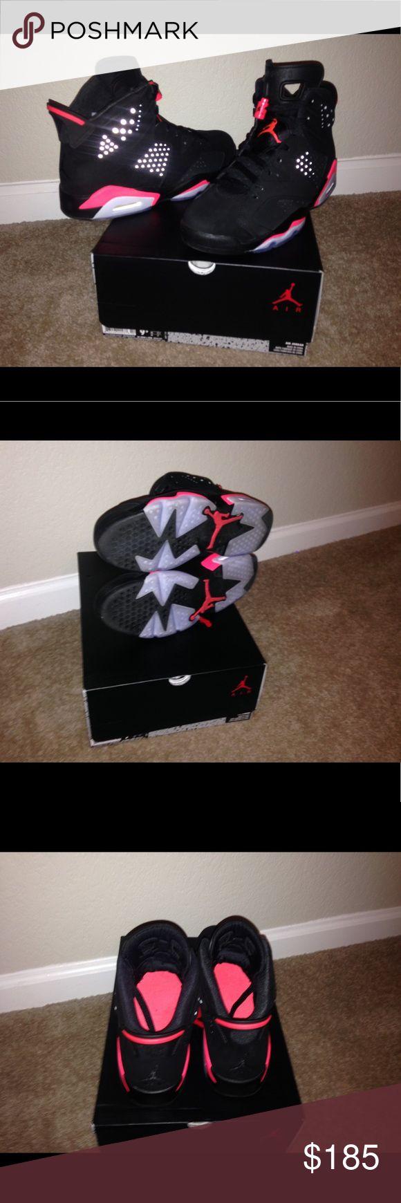 Air Jordan 6 Retro (Infrared) 2014 Sz 9.5 NDS W/Box Air Jordan Shoes Sneakers