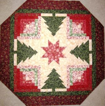 Evergreen Table Top Quilt Pattern from Vermont Quilt Design   kgkrafts - Quilts on ArtFire