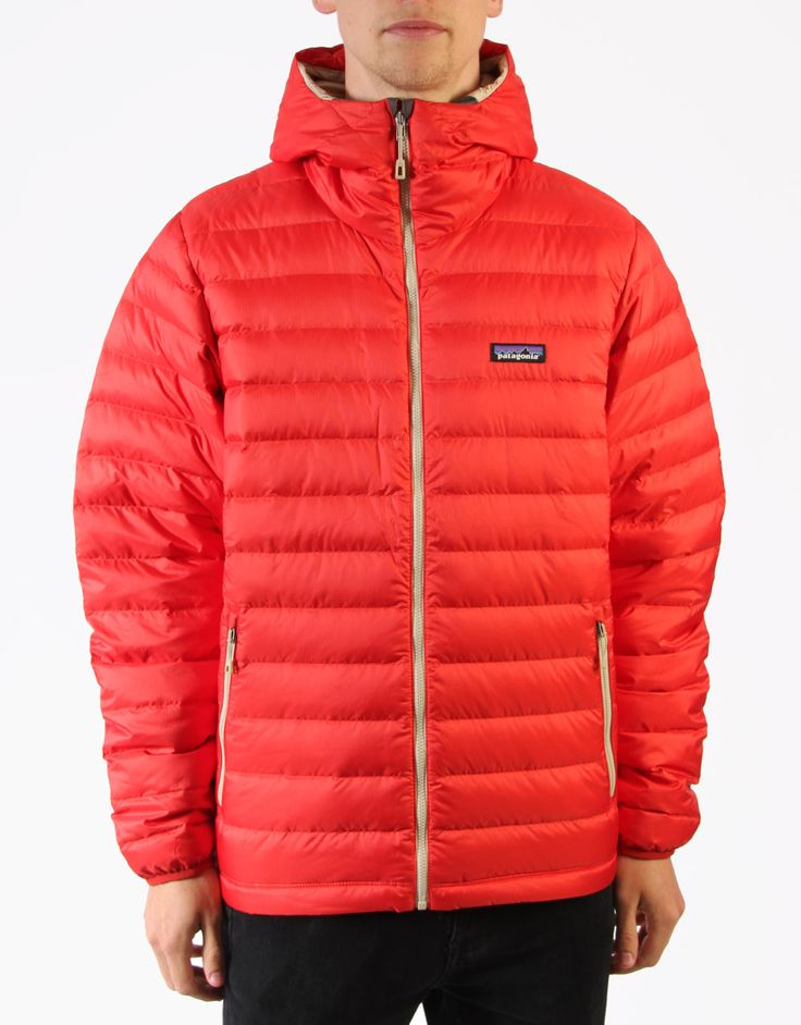 Patagonia Down Sweater Hoody Jacket - Cochineal Red