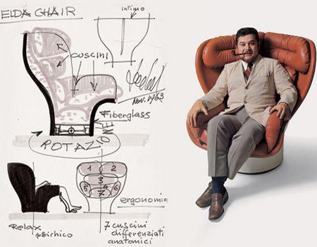 """Poltrona Elda by Joe Colombo. Esposta al """"Museo d'Arte Moderna"""" di New York e al """"Louvre"""" di Parigi si conferma oggetto per veri appassionati e cultori del design."""