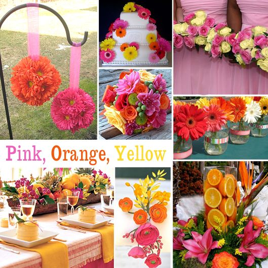 pink and orange wedding decorations | ... Wedding Colors | Exclusively Weddings Blog | Wedding Planning Tips and