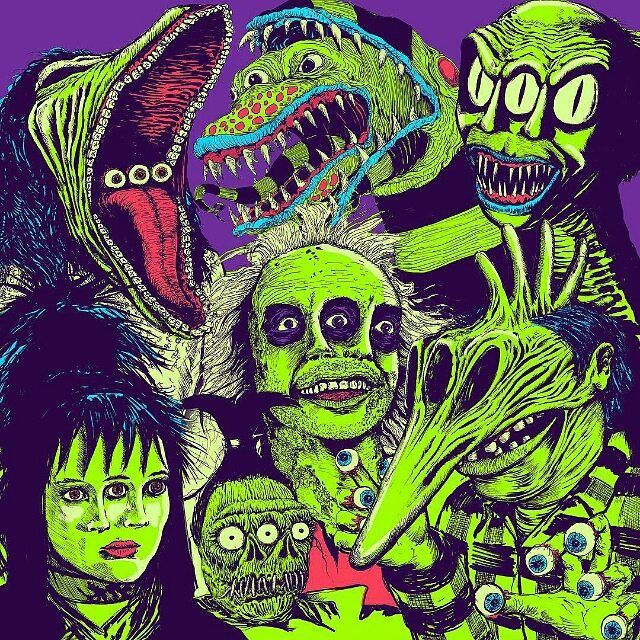 #droolyapp @robisrael  Going to finally make some prints in 2016. This #beetlejuice cast will probably be one of the first. #draw #drawing #timburton #illustrate #illustrator #illustration #robisrael #doodle #ghost #myart