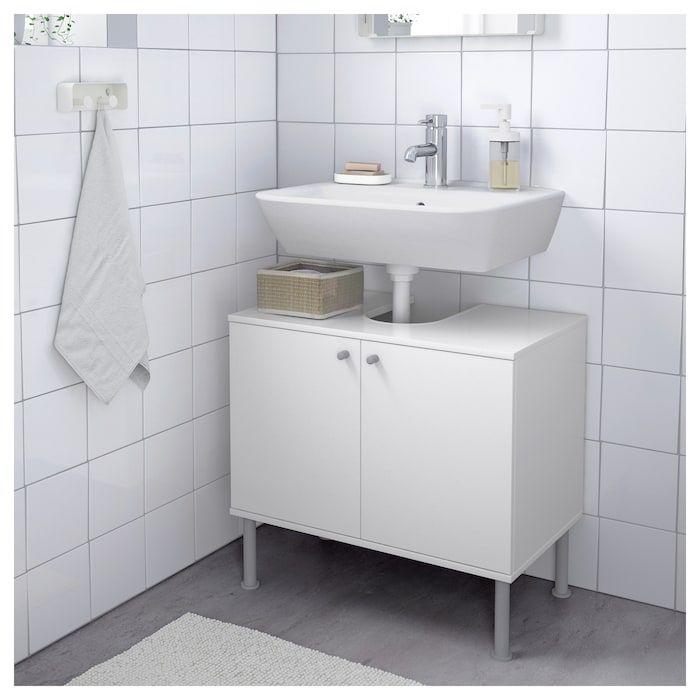 Fullen Waschbeckenunterschrank 2 Turen Weiss Ikea Deutschland Ikea Dorr Badrum Diy