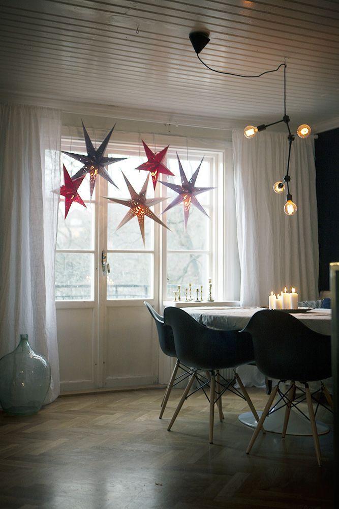 Jul, julen, julfint hemma, julpynt, juldekoration, nordisk jul, adventsstjärna, adventsstjärnor
