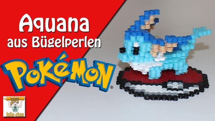 Aquana 3D Bügelperlen Tutorial Vaporeon Pokemon