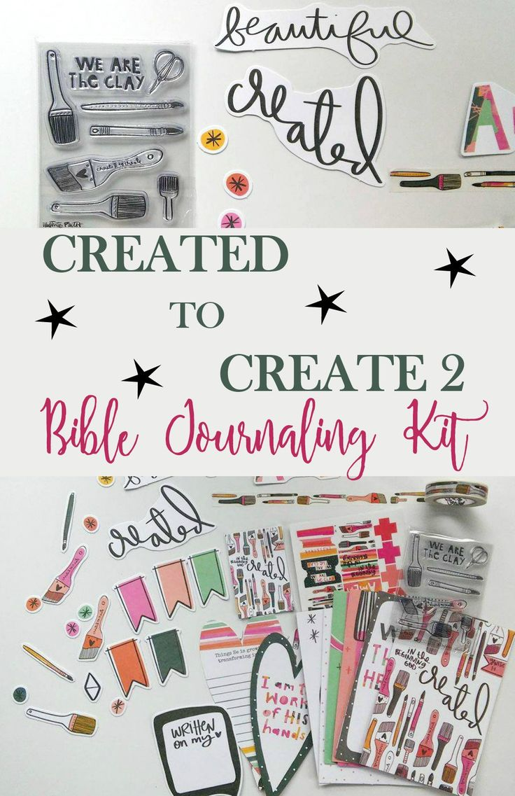 "#Created to Create 2"" Illustrated Faith Bible Devotional Kit. Do you love Bible Journaling or have you wanted to start..but not sure how? This is how I got started and I love it! I am sharing what is included in the newest devotional/journaling kit and would love for you to join me."