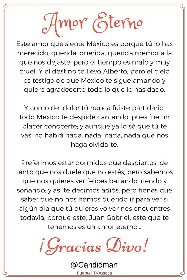 """#AmorEterno """"Este #Amor que siente #Mexico es porque tú lo has merecido querida…"""