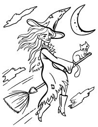 8 best witch coloring pages images on Pinterest | Witch, Bruges ...