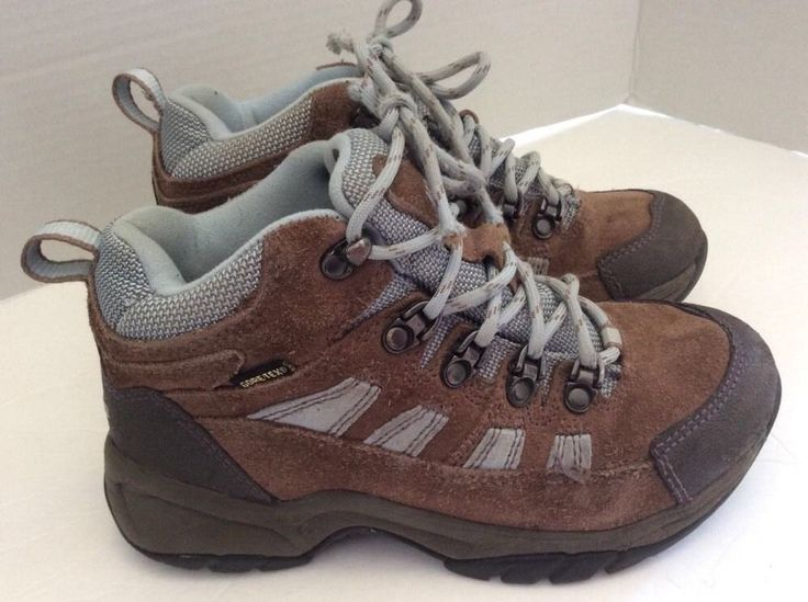 Ll Bean Hiking Boots 3 Big Boys Brown Leather Trail Shoes Flaws #LLBean #Boots