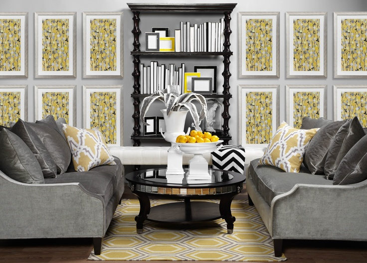 lemon and grey living room 188 best images about yellow amp grey decor on 20362
