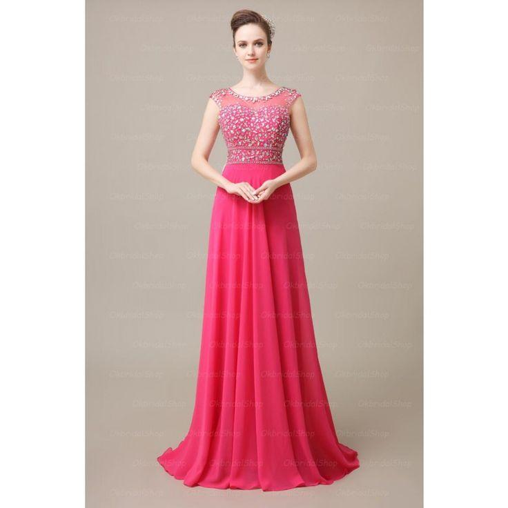 hot pink prom dress, off shoulder prom dresses