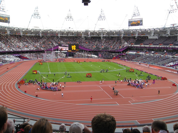 Inside the Olympic Stadium, Friday 3rd August 2012, watching the Heptathletes in the shot put round
