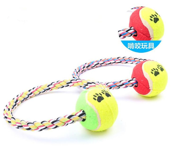 Pet dog training toys cotton braided dog ball toys 18cm durable pet toys dog for small large dogs wholesale pet supplies