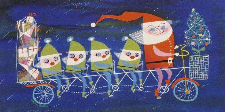Santa and his elves - Mary Blair