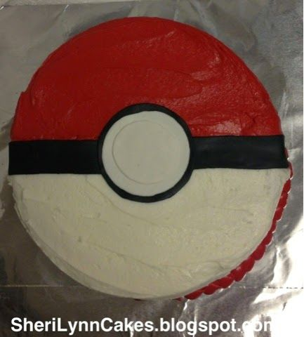 Sheri Lynn's Cakes: Pokemon Pokeball Cake