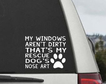 Mon Windows ne sont pas sale qui est Nose Art par ScullyDogDesigns