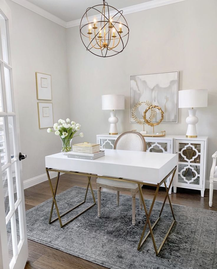 Office In 2020 Home Office Decor Grey Office Furniture Home