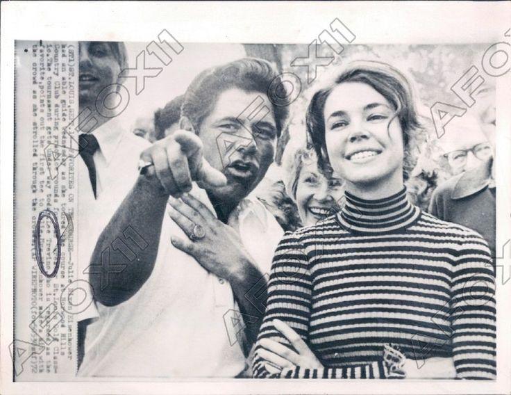 1972 HOF Golf Lee Trevino & Julie Nixon Eisenhower at Norwood Hills Press Photo
