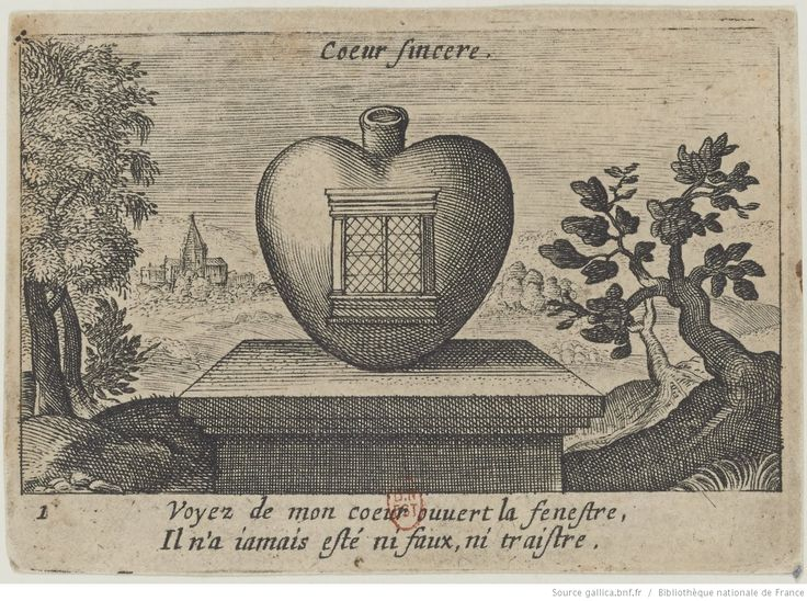 [Jeu de cartes à devises sur le thème des variations du cœur] : [estampe]