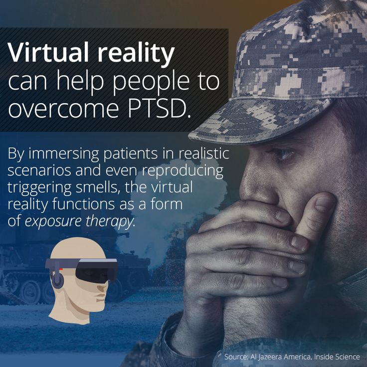 virtual reality exposure therapy in the treatment of ptsd Affective outcomes of virtual reality exposure  a novel tool for conducting exposure therapy is virtual reality exposure  treatment of ptsd and social anxiety.