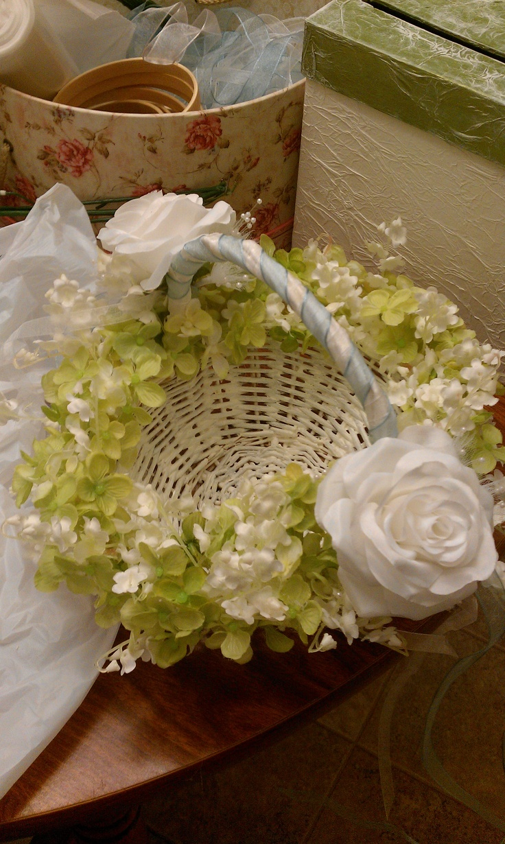 Avas Flower Girl Basket