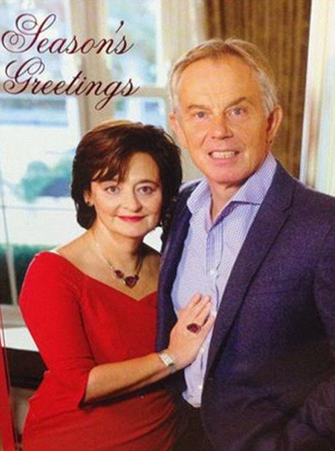 Former British Prime Minister Tony Blaire and his wife Cherie Blair reminded us all of how cringe-inducing Christmas cards can be. Cant believe they sent this out this year, quite scary lol :)