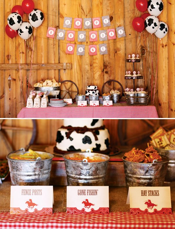 Check out this wonderful guide on how to make a rustic  vintage cowboy birthday!
