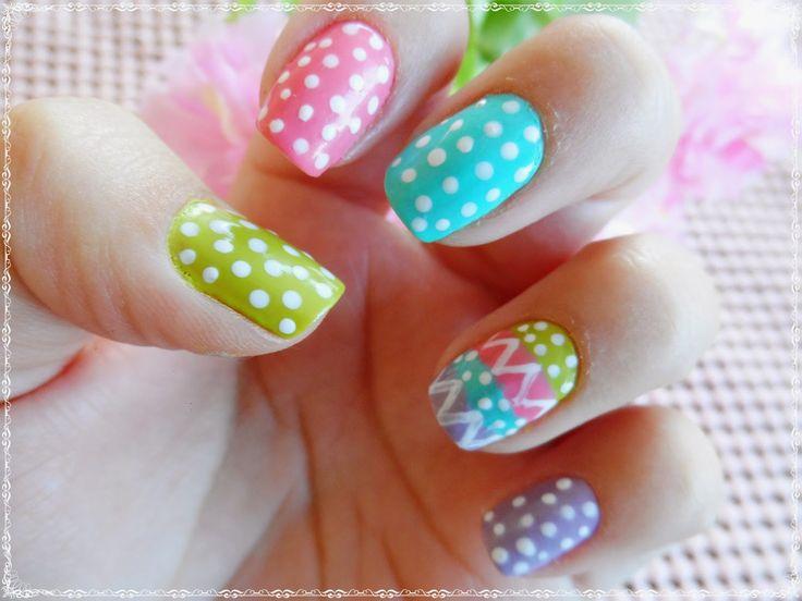 Graciele, Make e Mais...:    Unhas coloridas para a Páscoa!       ...