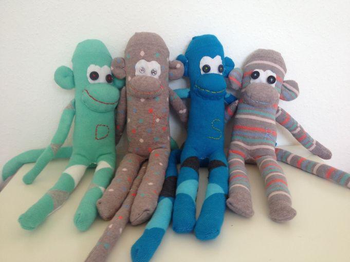Sockenaffen - schnelle und einfache Diy-Idee - Nähen mit Kindern (Anleitung im Blog)