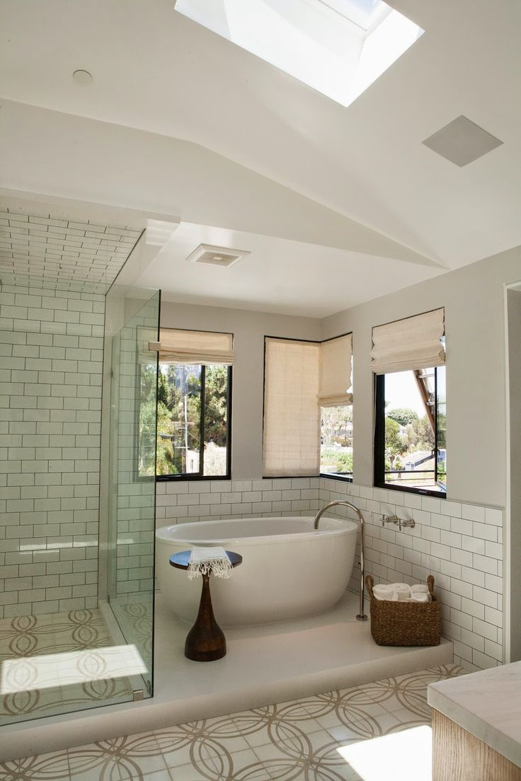 Greige design blog sunset 2014 l a idea house all for Sunset bathroom designs