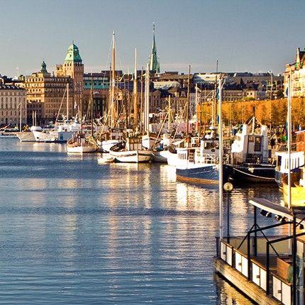 View of the Stockholm embankment from the Djurgarden Bridge. #travel #Sweden
