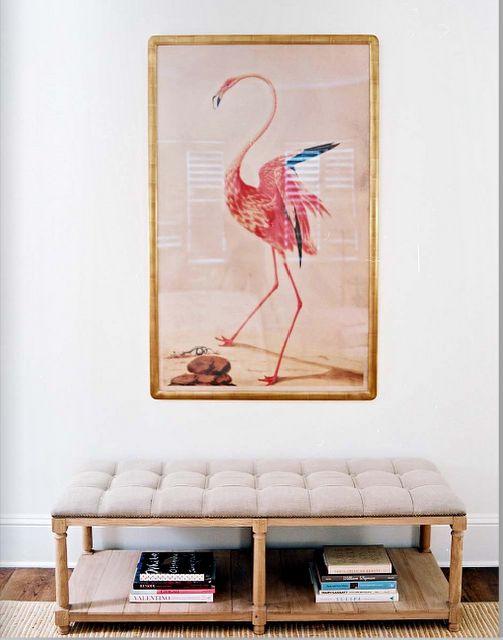 Bunny Williams: Pink Flamingos, Frames, Benches Cushions, Bunnies Williams, Flamingos Prints, Chinoiserie Chic, Flamingos Art, Design, Entryway