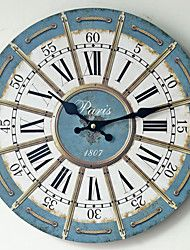 Traditional+Country+Antique+Retro+Holiday+Family+Wall+Clock,Novelty+Wood+Plastic+35*35+Indoor/Outdoor+Indoor+Clock+–+USD+$+22.09