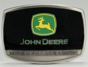 John Deere Men's Belt Buckle  Nothing Runs Like A Deere