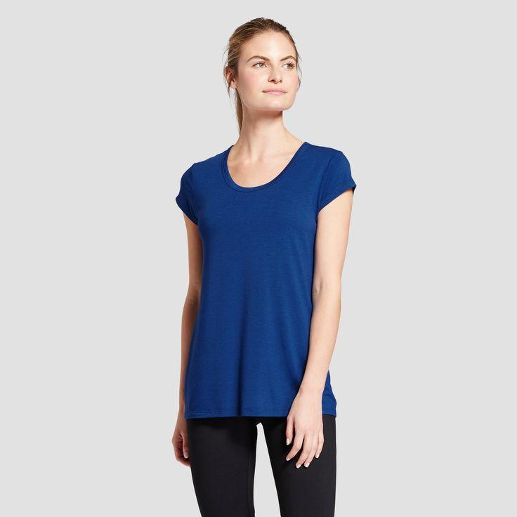 Women's Active Tie-Back T-Shirt - C9 Champion Winter River Blue 2X, Size: Xxl